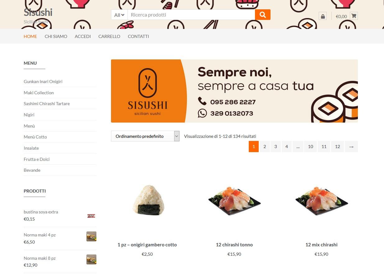 Realizzazione Food Commerce per Sisushi