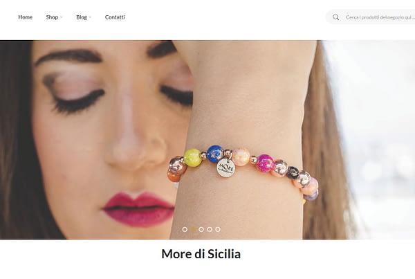 Realizzazione e-Commerce per MORE DI SICILIA - Gioielli in pietre dure realizzati in Sicilia